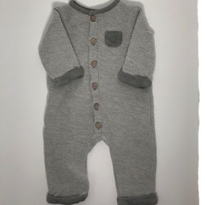NWOT Grey Bodysuit with Wooden Buttons